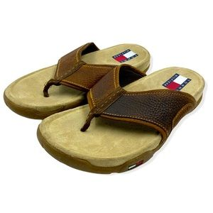 Tommy Hilfiger men's leather sandals size 8.5